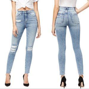 NWT Good American Good Curve Raw Hem Skinny Jeans